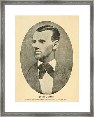 Jesse James 1847-1882 Framed Print by Everett