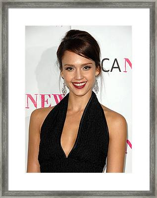 Jessica Alba At Arrivals For Moca 30th Framed Print by Everett
