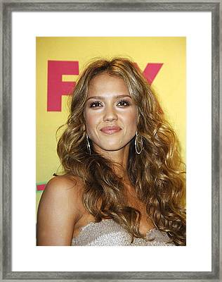 Jessica Alba In The Press Room For Teen Framed Print by Everett