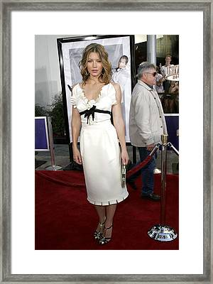 Jessica Biel At Arrivals For I Now Framed Print by Everett
