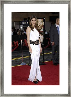 Jessica Biel Wearing An Emilio Pucci Framed Print by Everett