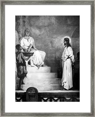Jesus Christ, Title Pontius Pilate Framed Print by Everett