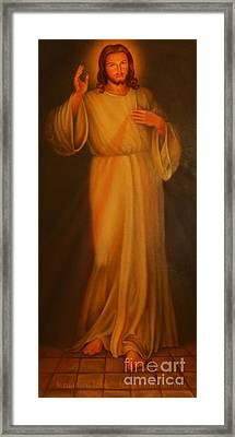 Jesus I Trust In You - Jesus Christ Of Nazareth Framed Print by Lee Dos Santos