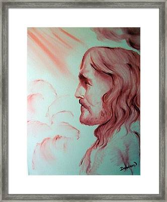 Jesus In His Glory Framed Print by Raymond Doward