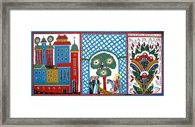 Jesus Meets Zackeus When Entering Jerusalem Framed Print by Leif Sodergren