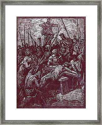 Jesus' Sacrafice Framed Print by Robert Clement
