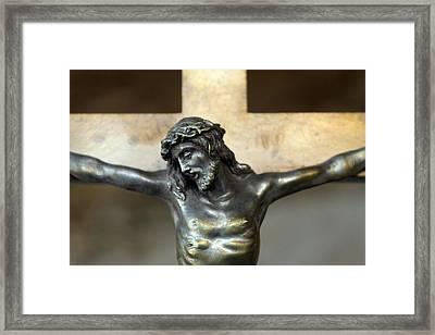 Jesus Serenity Framed Print by Munir Alawi