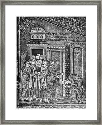 Jesus The Healer, 12th Century Framed Print by