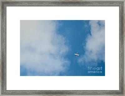 Jet Airplane In Flight Framed Print by Eddy Joaquim