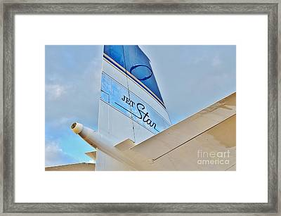 Jet Star Framed Print by Lynda Dawson-Youngclaus