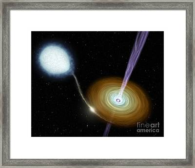 Jets Of Material Shooting Framed Print by Stocktrek Images