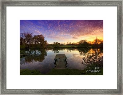 Jetty Sunrise 4.0 Framed Print by Yhun Suarez