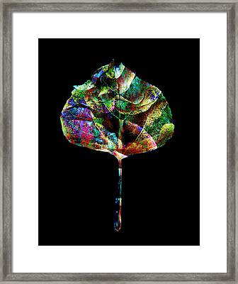 Jewel Tone Leaf Framed Print by Ann Powell
