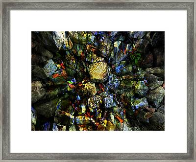 Jeweled Cavern Framed Print by Mindy Newman