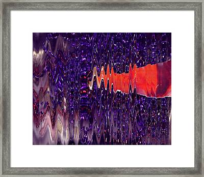 Jewels And A Red Sash Framed Print by Anne-Elizabeth Whiteway