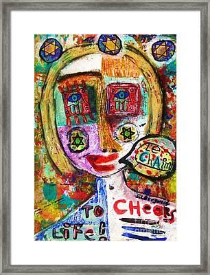 Jewish Angel Framed Print by Sandra Silberzweig