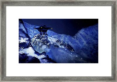 Jhinza Temple In The Mountains Framed Print by Scott Harris