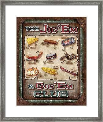 Jig' Em Gig' Em Framed Print by JQ Licensing