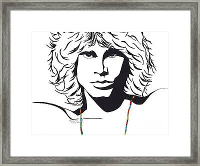 Jim Morrison Framed Print by Marty Rice