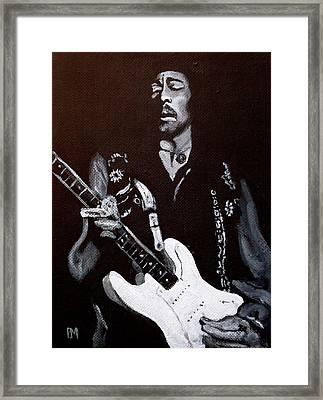 Jimi Hendrix Framed Print by Pete Maier