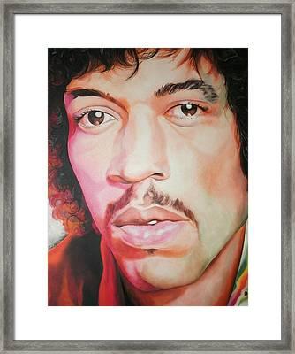 Jimi Hendrix Framed Print by Timothe Winstead