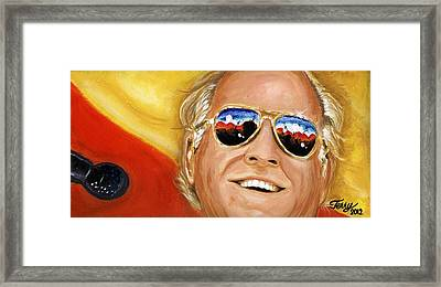 Jimmy Buffet At The Jazz Fest Framed Print by Terry J Marks Sr