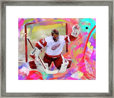 Jimmy Howard Framed Print by Donald Pavlica