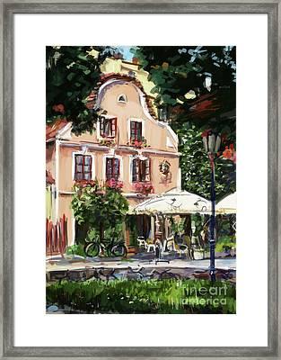 Jindrichuv Hradec Restaurant Framed Print by Ondrej Soukup
