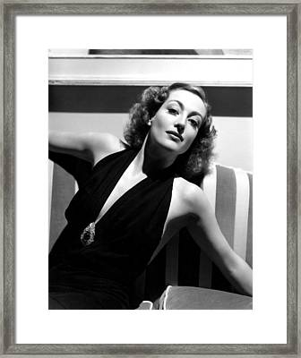 Joan Crawford, 1936, Photo By Hurrell Framed Print by Everett