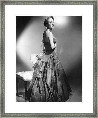 Joan Crawford, Circa Early 1950s Framed Print by Everett