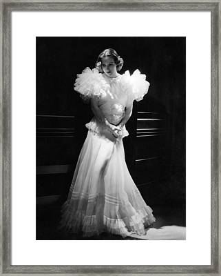 Joan Crawford, Mgm Portrait By Hurrell Framed Print by Everett