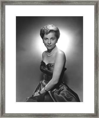 Joan Fontaine, Ca. 1950s Framed Print by Everett