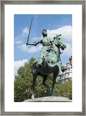 Joan Of Arc Vii Framed Print by Fabrizio Ruggeri
