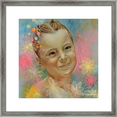 Joana's Portrait Framed Print by Karina Llergo