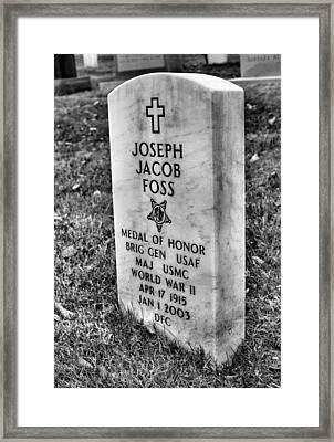 Joe Foss Framed Print by JC Findley