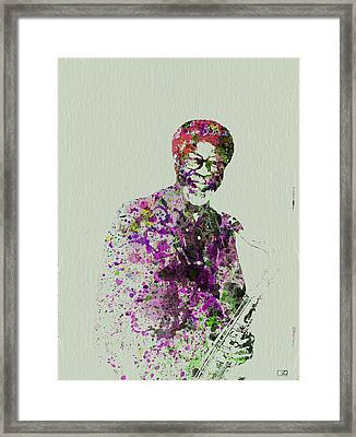 Joe Henderson Watercolor  Framed Print by Naxart Studio