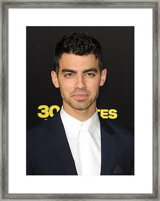 Joe Jonas At Arrivals For 30 Minutes Or Framed Print by Everett