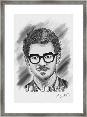Joe Jonas Drawing Framed Print by Pierre Louis