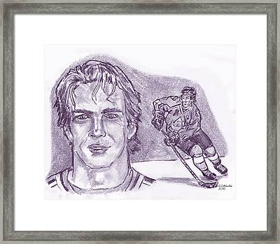 Joe Sakic Framed Print by Chris  DelVecchio