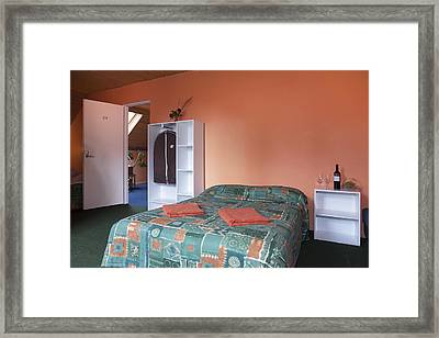Jogeva County A Double Bed In A Bedroom Framed Print by Jaak Nilson