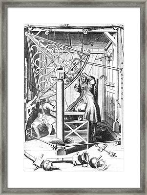 Johannes Hevelius And His Assistant Framed Print by Science Source