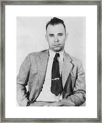 John Dillinger 1903-1934, Famous Bank Framed Print by Everett