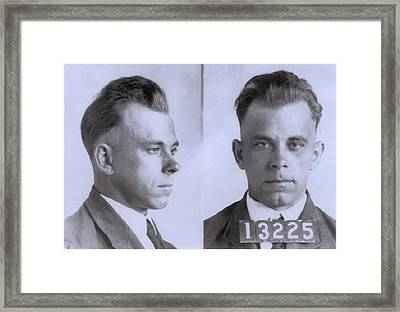 John Dillinger 1903-1934, In Mugshot Framed Print by Everett