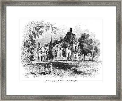John E. Williams Residence Framed Print by Granger