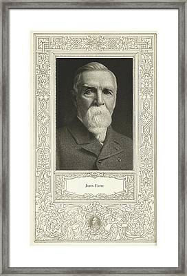John Fritz, American Mechanical Engineer Framed Print by Science, Industry & Business Librarynew York Public Library