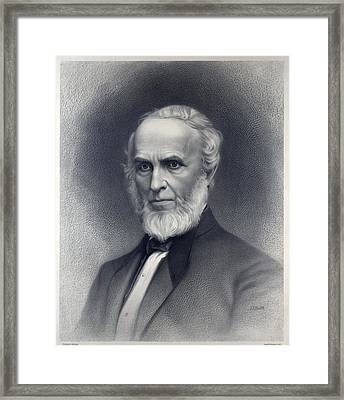 John Greenleaf Whittier 1807-1892 Framed Print by Everett