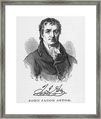 John Jacob Astor Framed Print by Granger