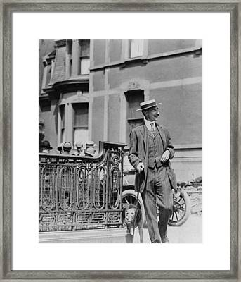 John Jacob Astor Iv 1864-1912, Walking Framed Print by Everett