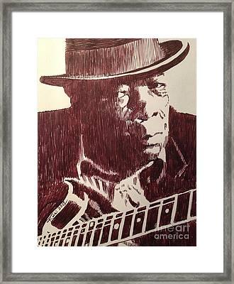 John Lee Hooker Framed Print by Robbi  Musser