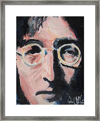 John Lennon  Framed Print by Jon Baldwin  Art